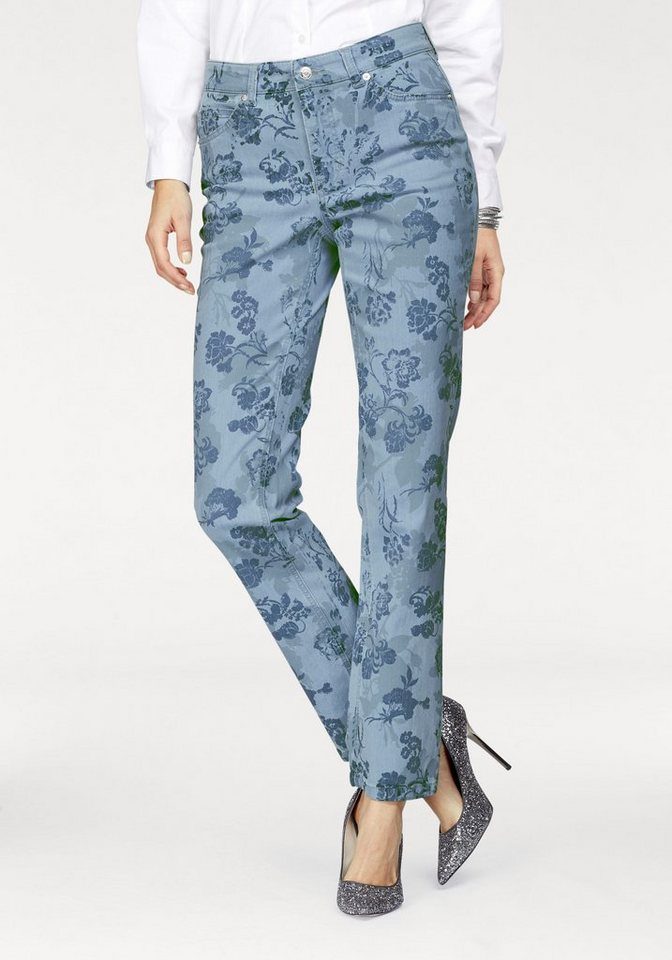 MAC 5-Pocket-Jeans »Melanie Print« Die feminine Form allovwer bedruckt
