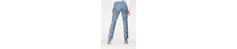 MAC 5-Pocket-Jeans Melanie, Die feminine Form allovwer bedruckt