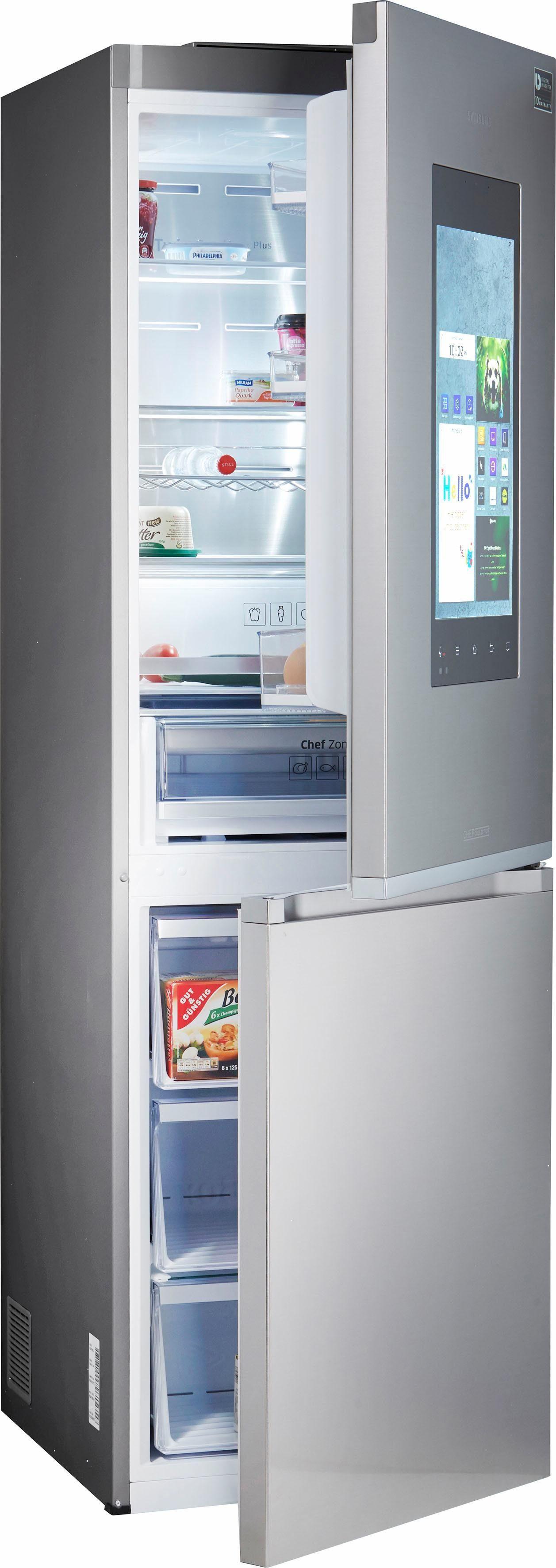 Samsung Kühl-/Gefrierkombination RB38M7998, 192,7 cm hoch, 59,5 cm breit, Family Hub – Display im Kühlschrank