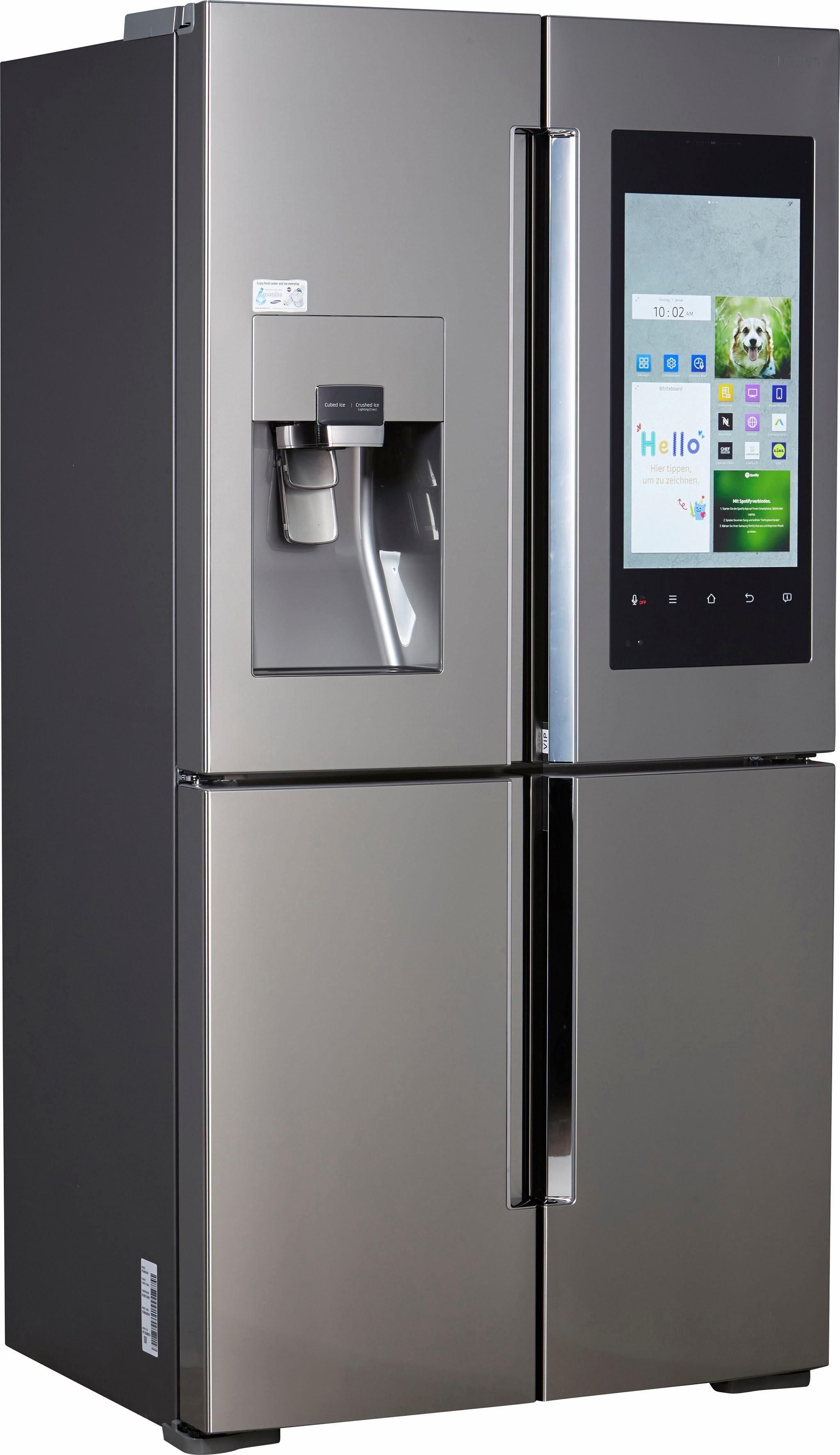 Samsung French Door Kühlschrank RF56M9540, 182,5 cm hoch, 90,8 cm breit, Family Hub – Display im Kühlschrank