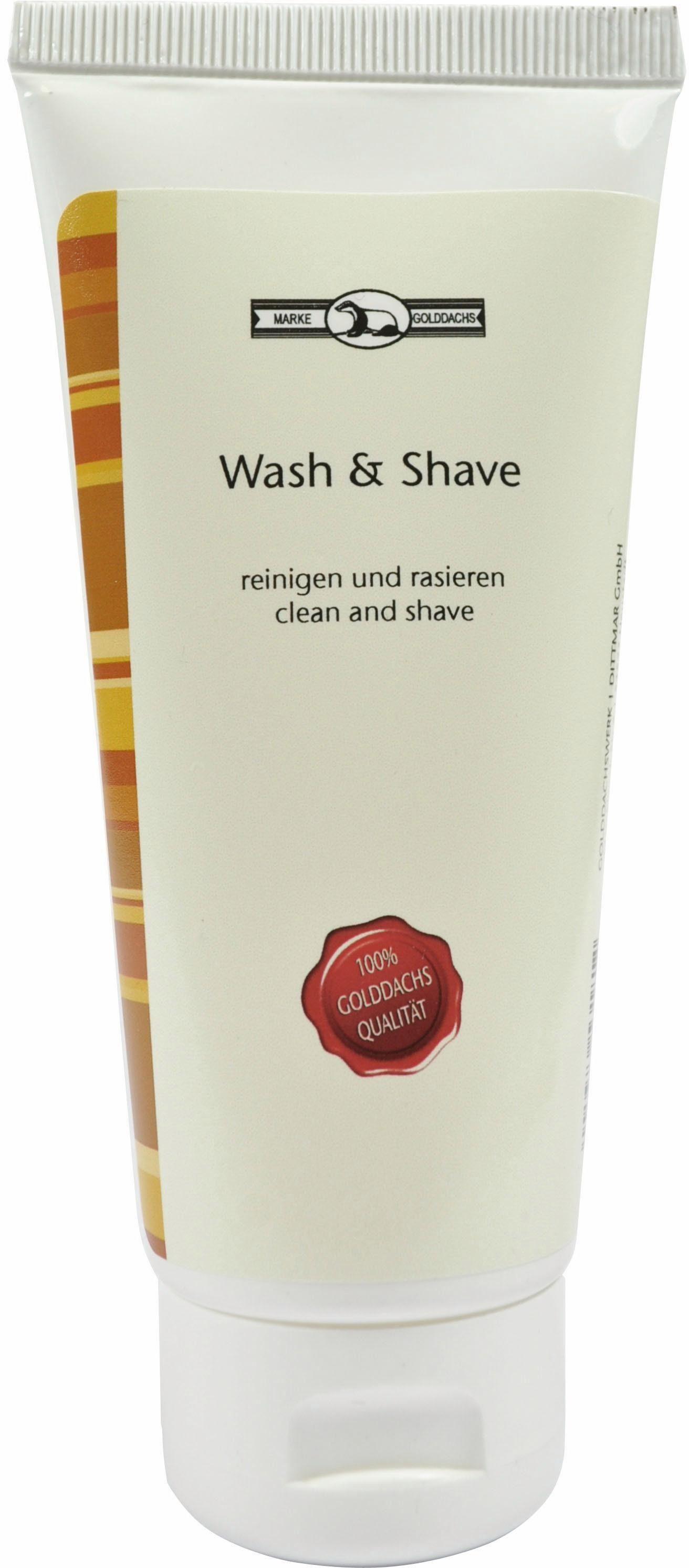 Golddachs, »Wash & Shave«, Rasierschaum
