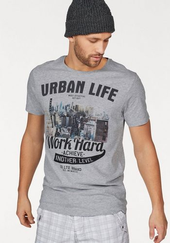 Herren SUBLEVEL T-Shirt grau | 04058427469951