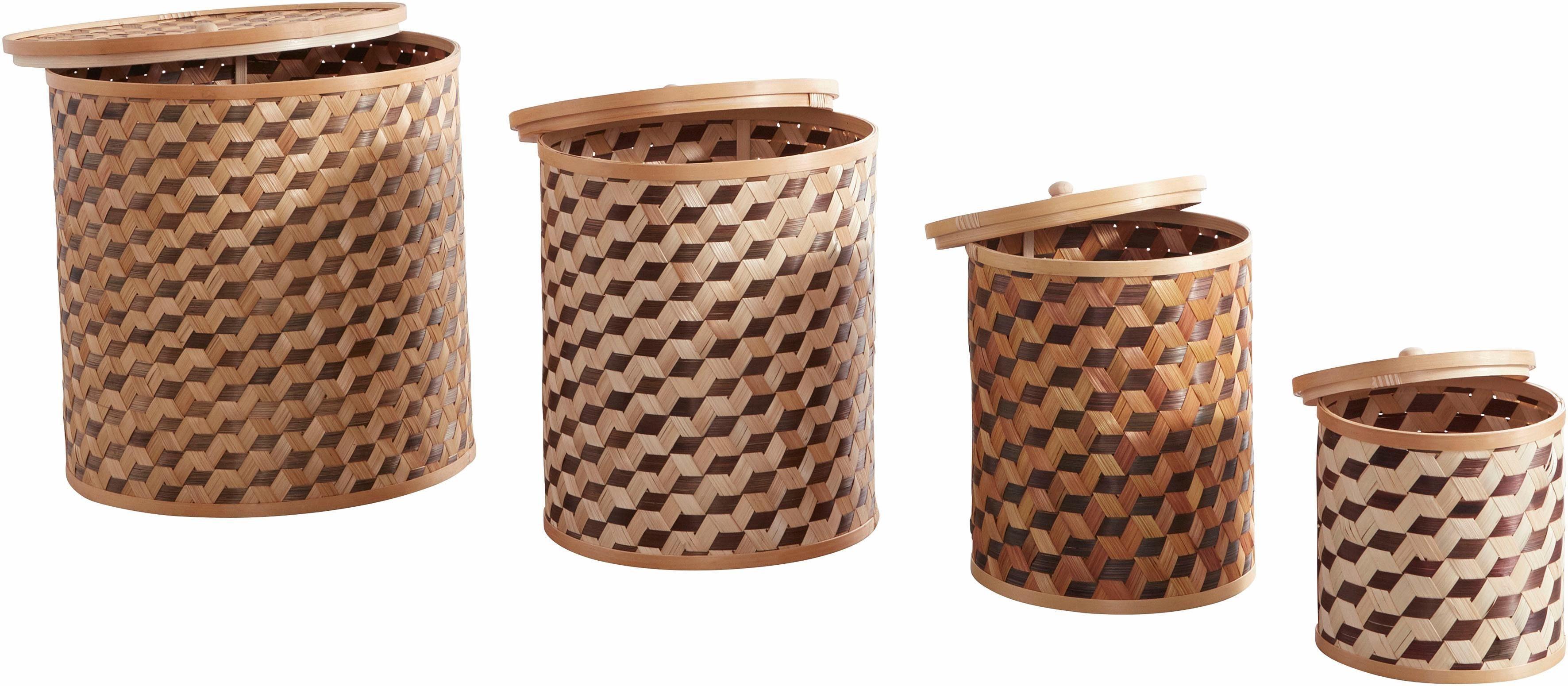 Home affaire Boxen-Set, 4-teilig, mit Deckel