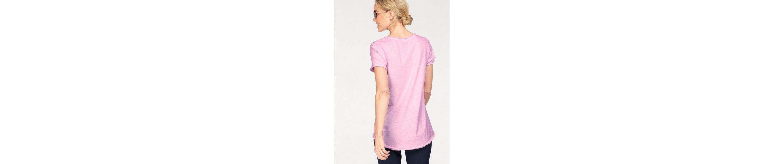 NAVIGAZIONE Rundhalsshirt, mit Statement-Druck, leichter Vintage-Look