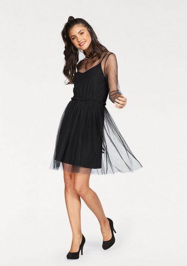 minimum Partykleid Majbrith dress (Set, 2 tlg), mit Unterkleid und Rüschen-Details