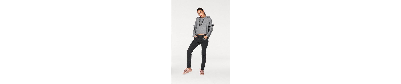 Please Jeans Kapuzensweatshirt, mit Zierperlen