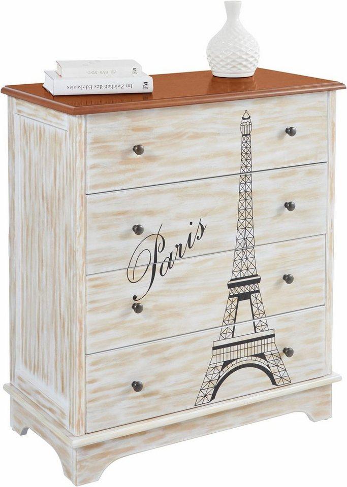 Shopthewall Home Affaire Kommode Paris Breite 80 Cm