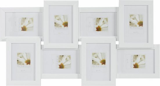 Home affaire Bilderrahmen Collage, für 8 Bilder (1 Stück), Fotorahmen, weiß, Bildformat 10x15 cm
