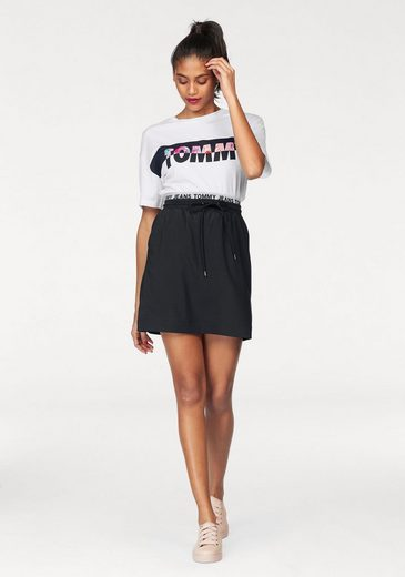 Tommy Jeans Crew Neck Shirt With Front Print