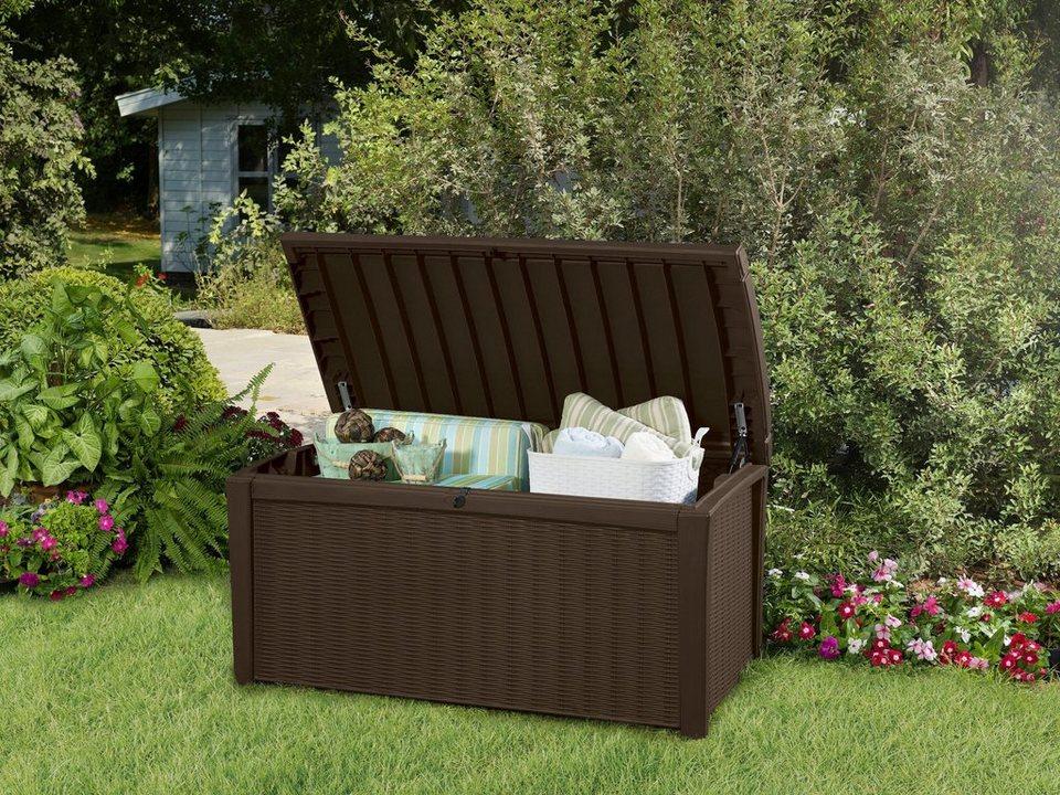 keter auflagenbox borneo 130x63x70 cm polypropylen braun online kaufen otto. Black Bedroom Furniture Sets. Home Design Ideas