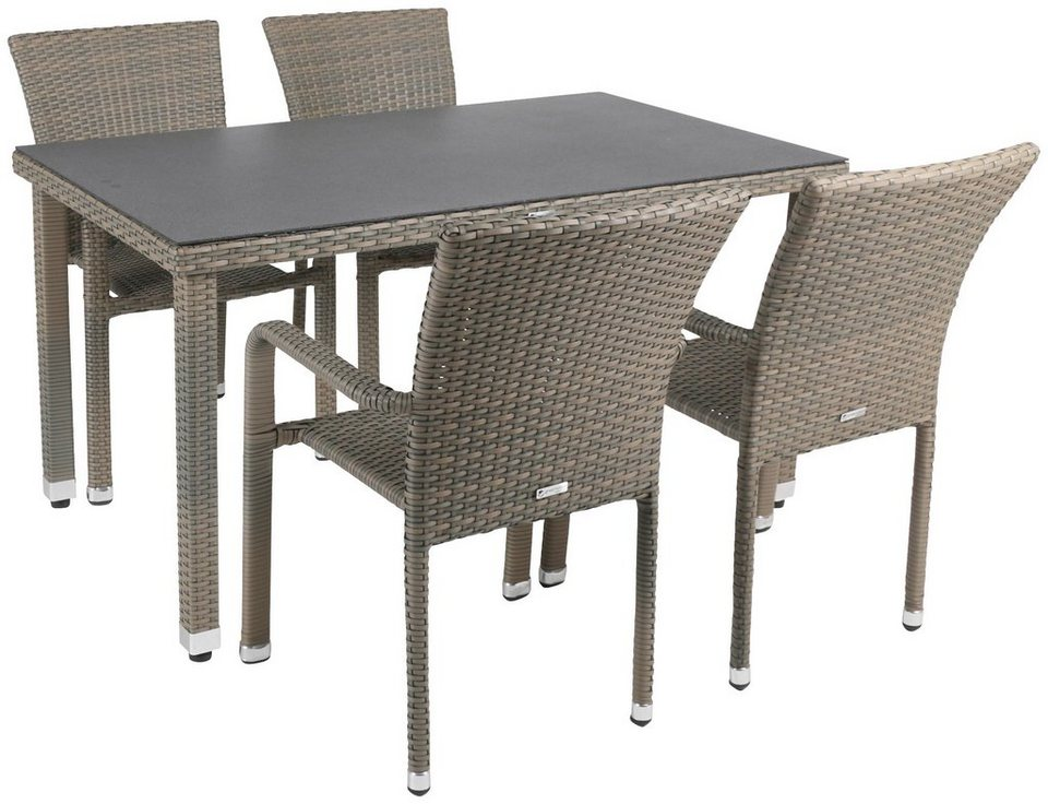 Greemotion gartenm bel diningset manila 5 tlg 4 for Greemotion gartenmobel
