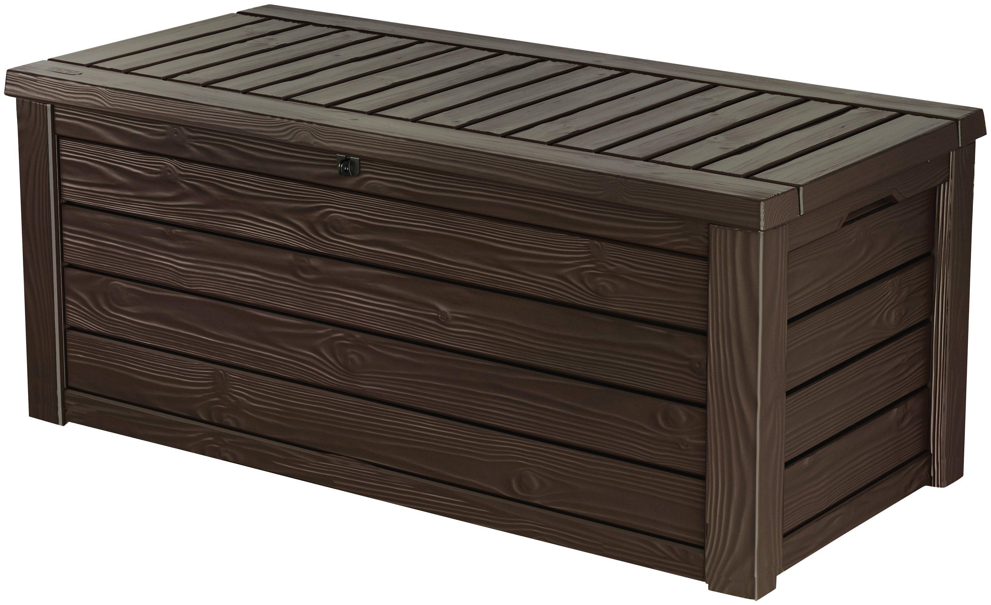 KETER Auflagenbox »Westwood«, 155x64x72 cm, mit Sitzfunktion, Polypropylen, braun