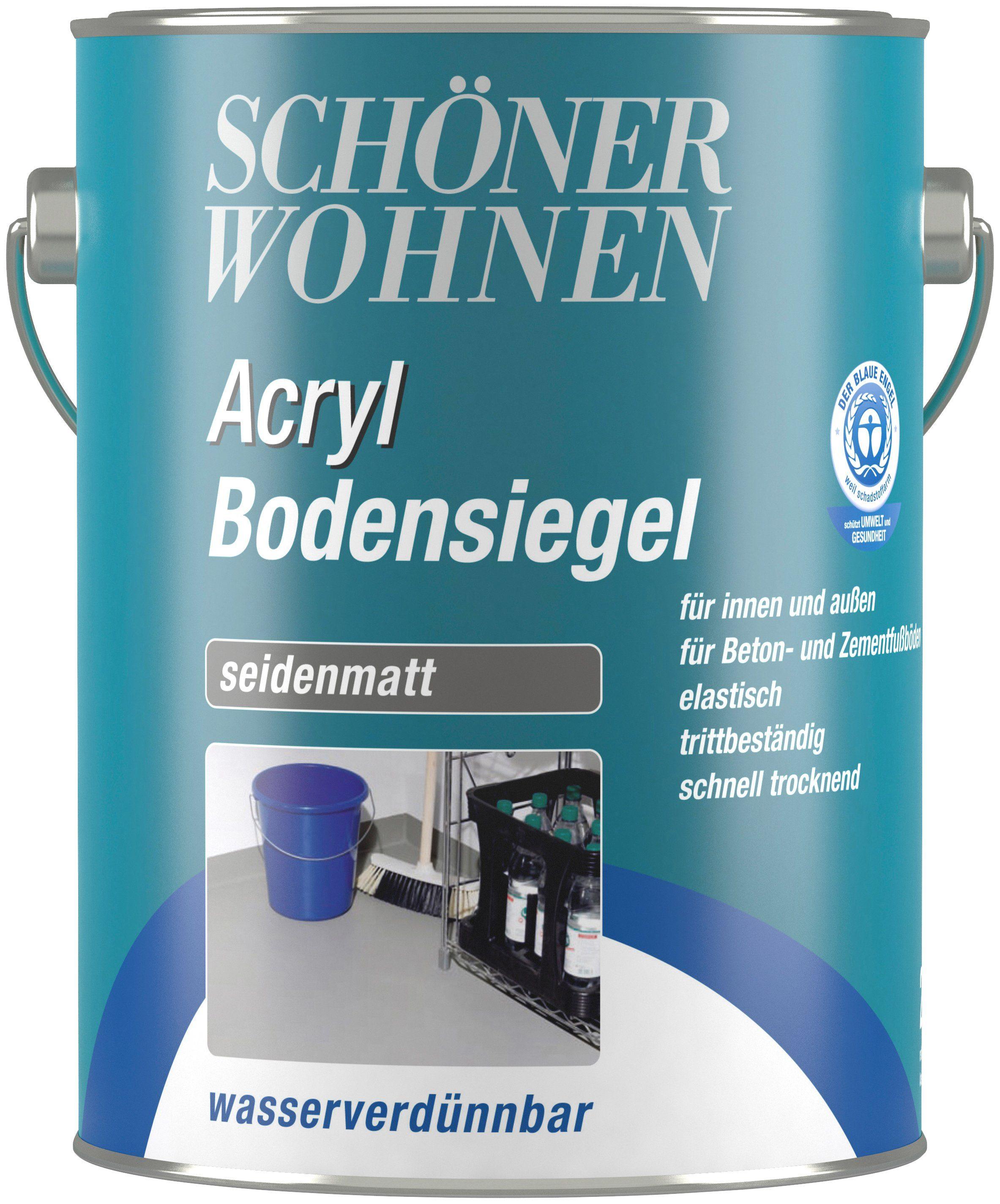 SCHÖNER WOHNEN FARBE Bodenversiegelung »Acryl Bodensiegel«, steingrau, seidenmatt, 2,5 l