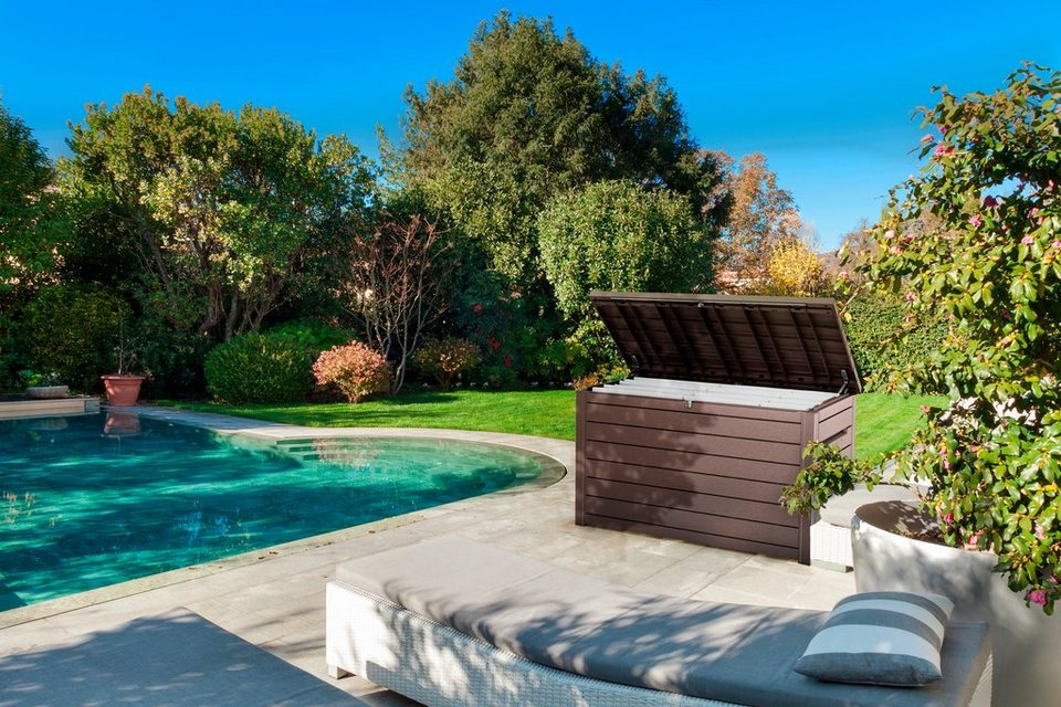 keter auflagenbox ontario 148x86x83 cm polypropylen braun online kaufen otto. Black Bedroom Furniture Sets. Home Design Ideas
