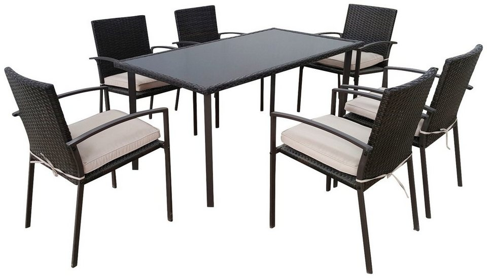 greemotion gartenm bel diningset palermo 13 tlg 6 st hle tisch stahl online kaufen otto. Black Bedroom Furniture Sets. Home Design Ideas