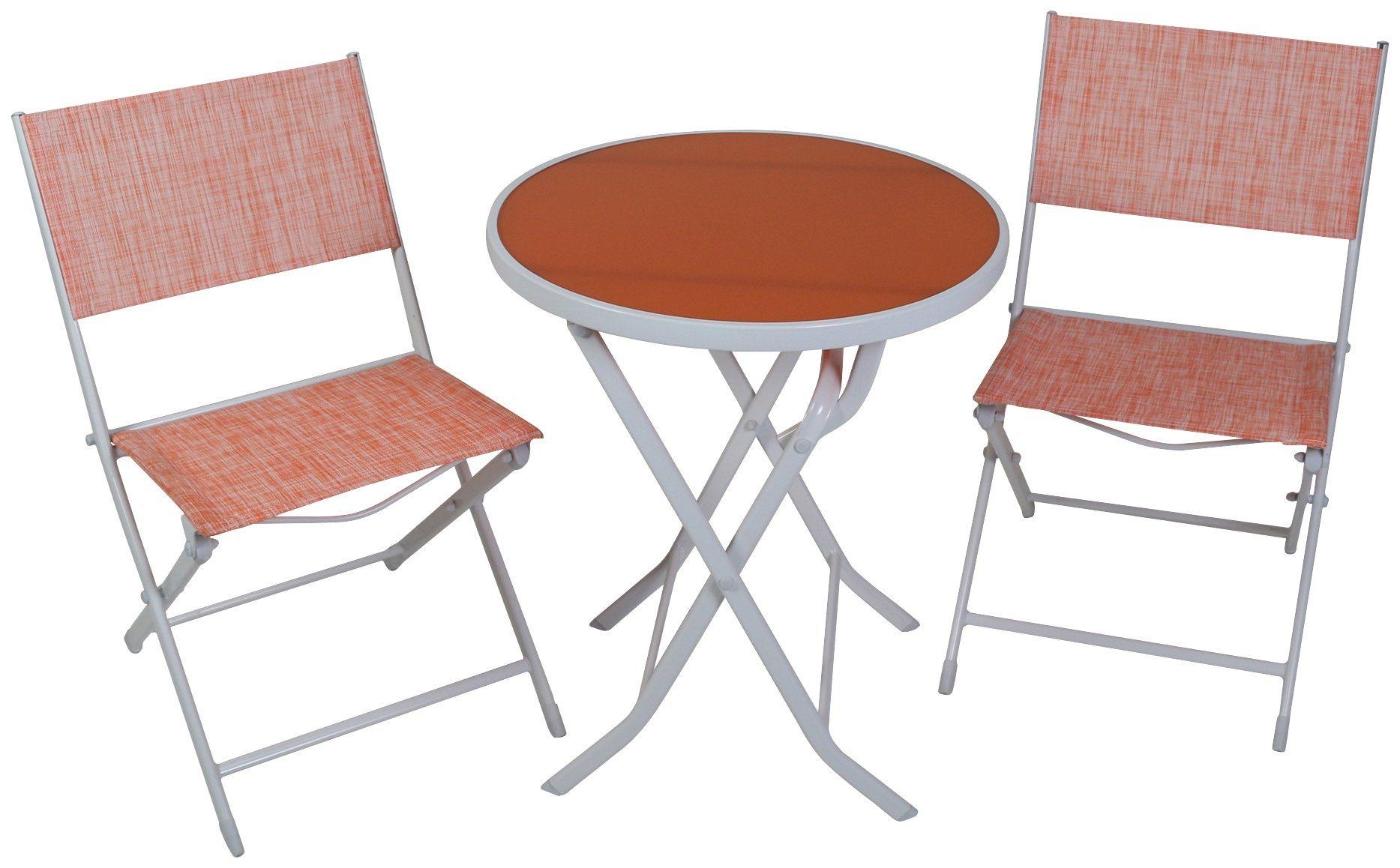 GREEMOTION Balkonset , 3-tlg., 2 Stühle, Tisch 60x60 cm, Stahl   Garten > Balkon > Balkontische   Greemotion