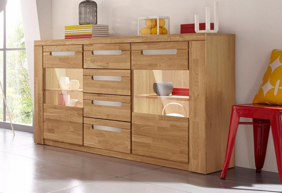 sideboard kolding breite 140 cm mit 2 glast ren otto. Black Bedroom Furniture Sets. Home Design Ideas