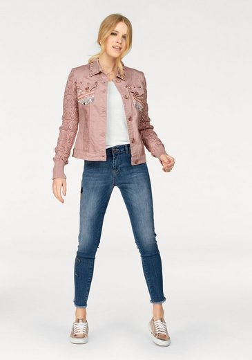 Desigual Jeansjacke, mit Strickärmeln