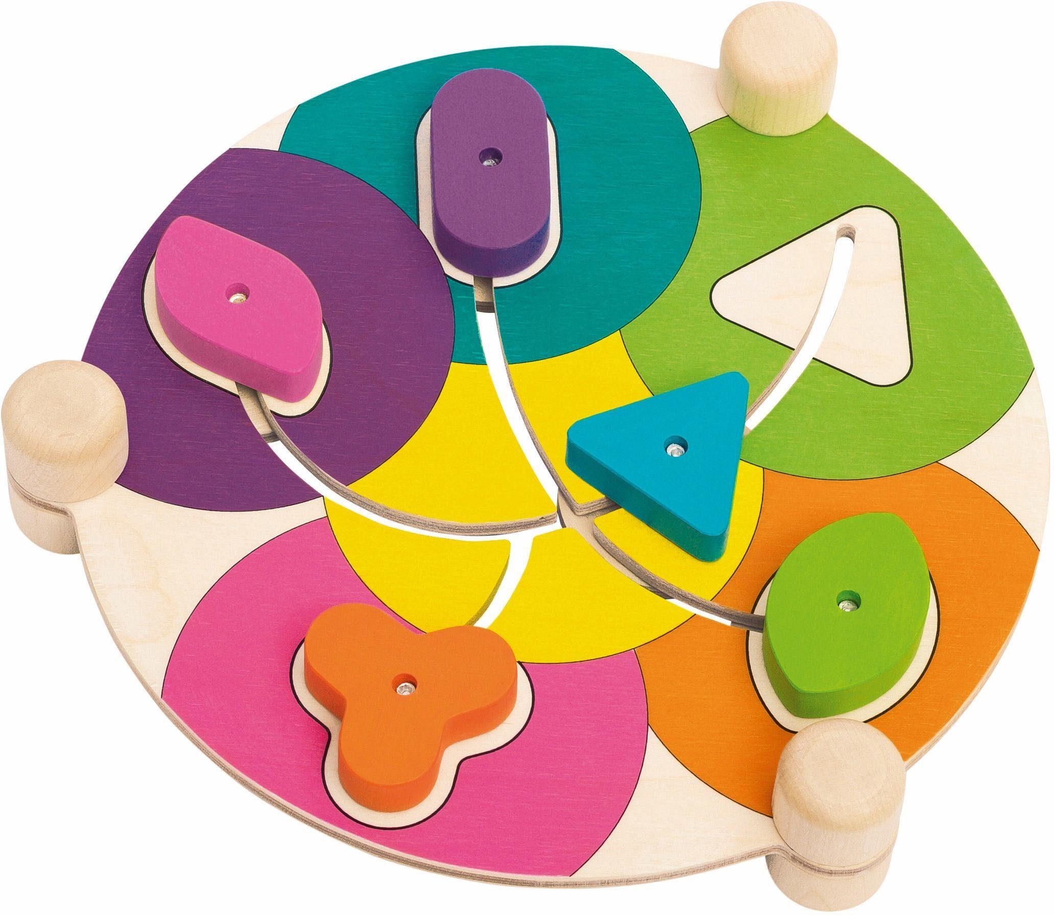 Selecta Lernspiel aus Holz, »Formenschubser Tiere«