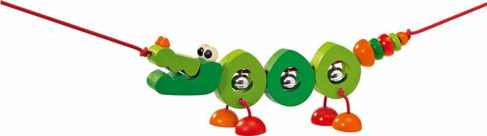 Selecta Kinderwagenkette aus Holz,  Crocolini