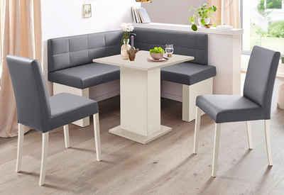 SCHÖSSWENDER Eckbankgruppe »Anna 2«, (Set, 4-tlg), mit 2 Stühlen mit massiven Gestell