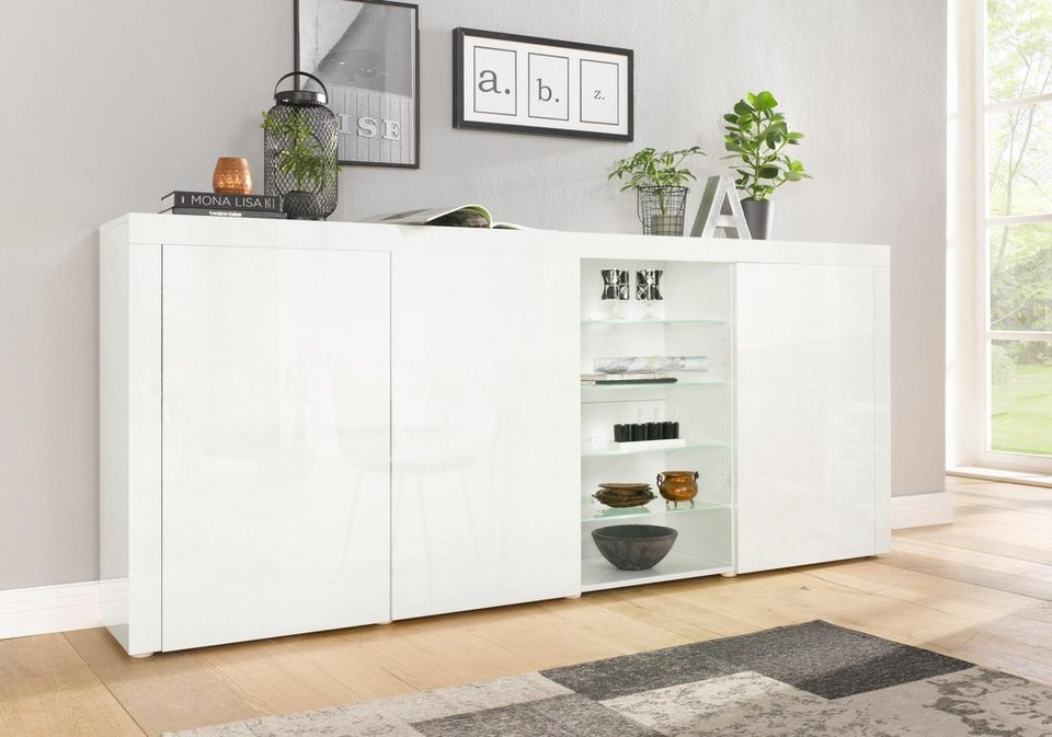 borchardt m bel highboard breite 200 cm kaufen otto. Black Bedroom Furniture Sets. Home Design Ideas