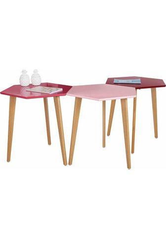HOME AFFAIRE Pristatomas stalas »Hexagon« (Rinkinys...