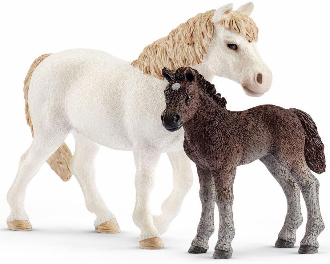 Schleich® Spielfigurenset (42423), »Farm World, Pony Stute mit Fohlen«