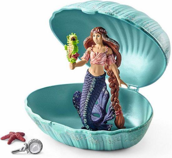 Schleich® Spielfigur »bayala, Meerjungfrau mit Baby-Seepferd in Muschel (70563)«, (Set)