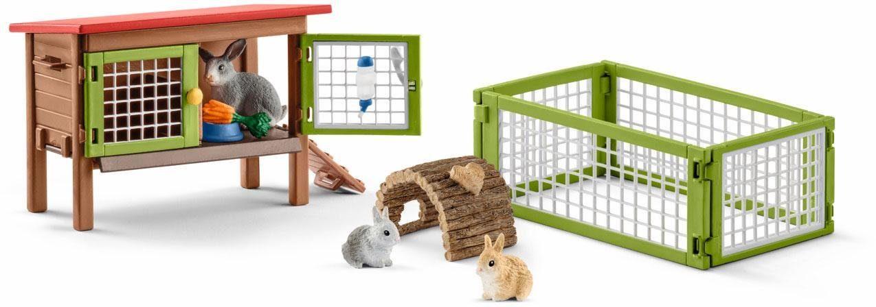 Schleich® Spielset (42420), »Farm World, Kaninchenstall«