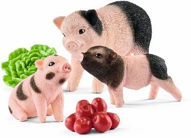 Schleich® Spielfigur »Farm World, Mini-Schwein Mutter und Ferkel, 42422«, (Set)