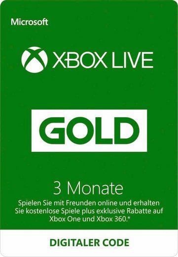 Xbox One »3 Monate Xbox Live Gold« Prepaidkarte