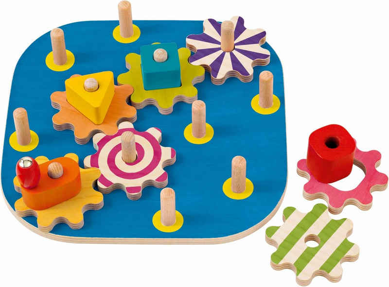 Selecta Steckspielzeug »Kurbelspaß«, aus Holz, Made in Germany