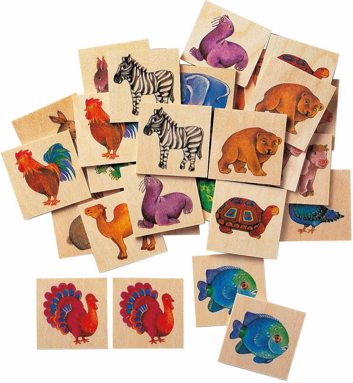Selecta Gedächtnisspiel aus Holz, »Memo Zoo«