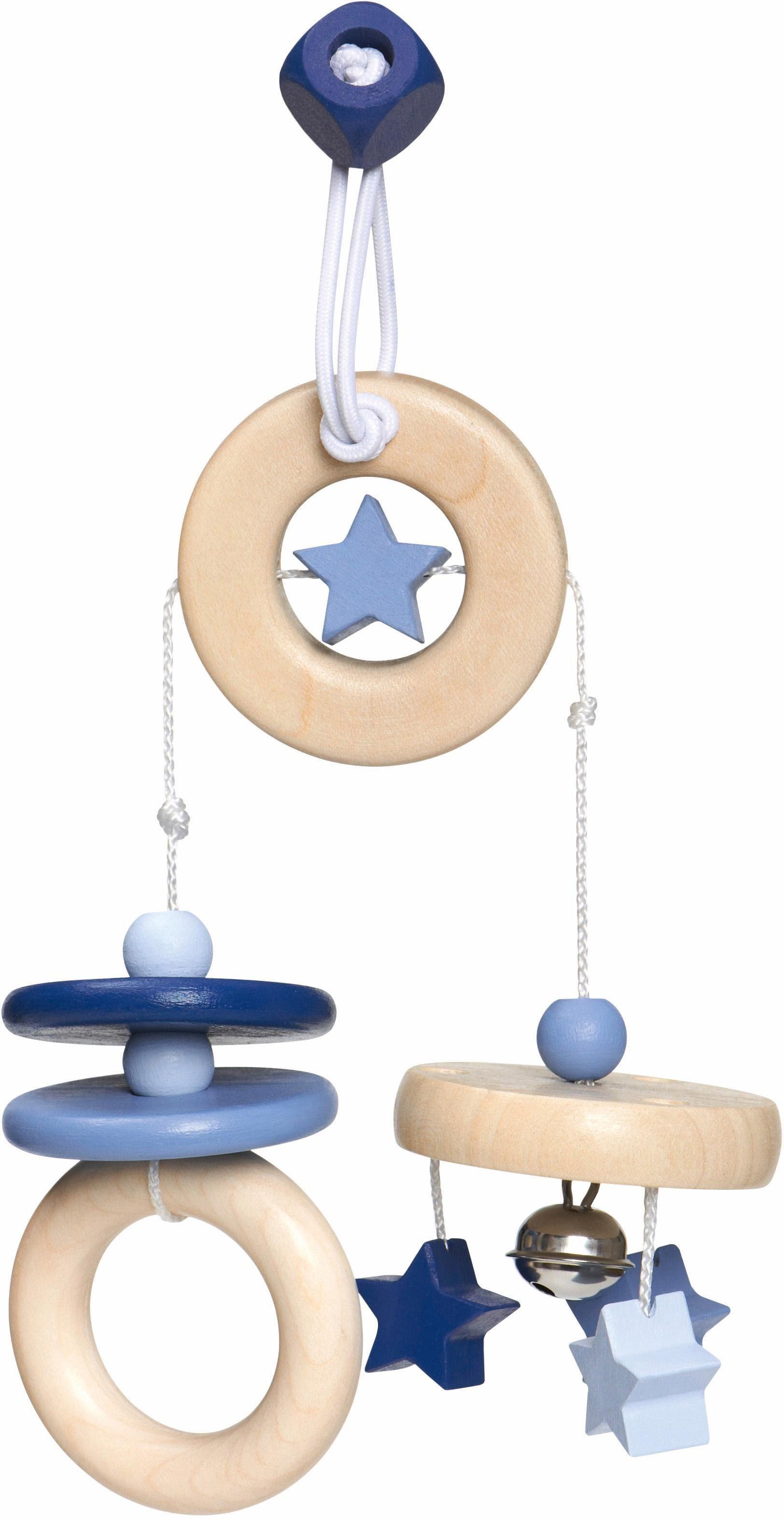 Selecta Spielanhänger für die Babyschale aus Holz, »Sternchen Spaß, blau«
