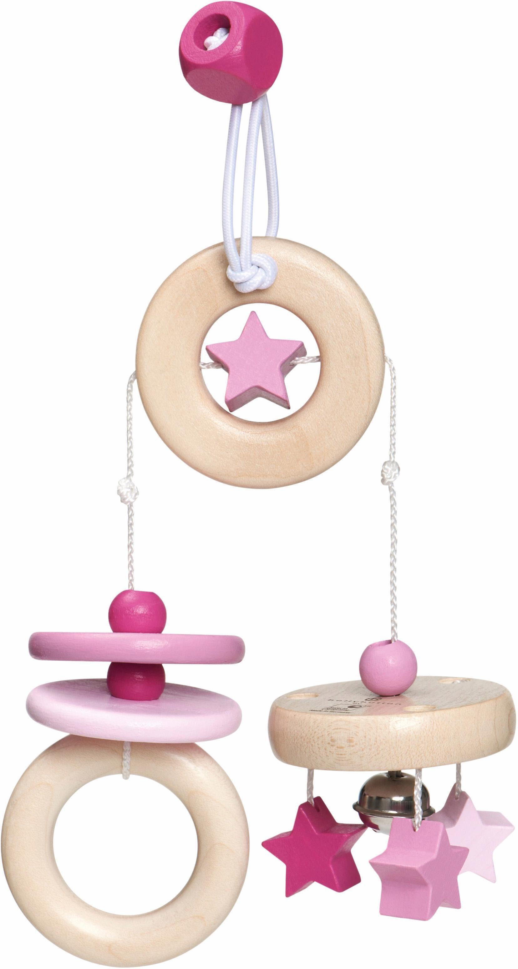 Selecta Spielanhänger für die Babyschale aus Holz, »Sternchen Spaß, rosa«
