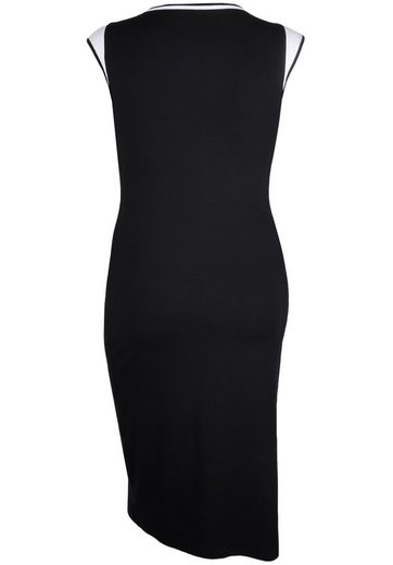 Doris Jersey Dress With Contrasting Details Spreadable, Large Sizes