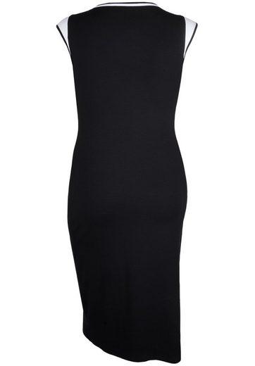 Doris Streich Jerseykleid mit Kontrastdetails, große Größen