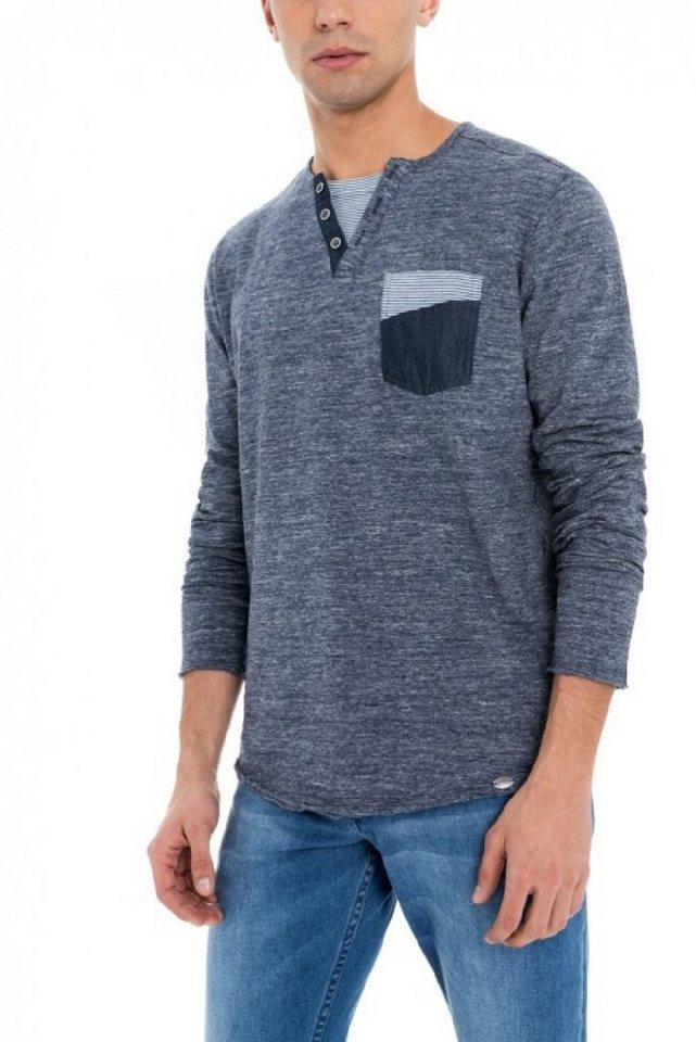 - Herren salsa jeans Langarm T-Shirt ITALY grau | 05604562873956