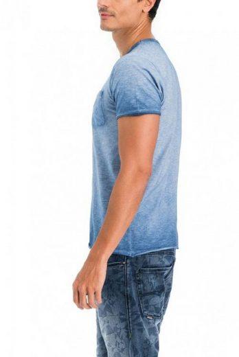 T-shirt En Jeans Salsa, Plage De Palmiers Kurzarm