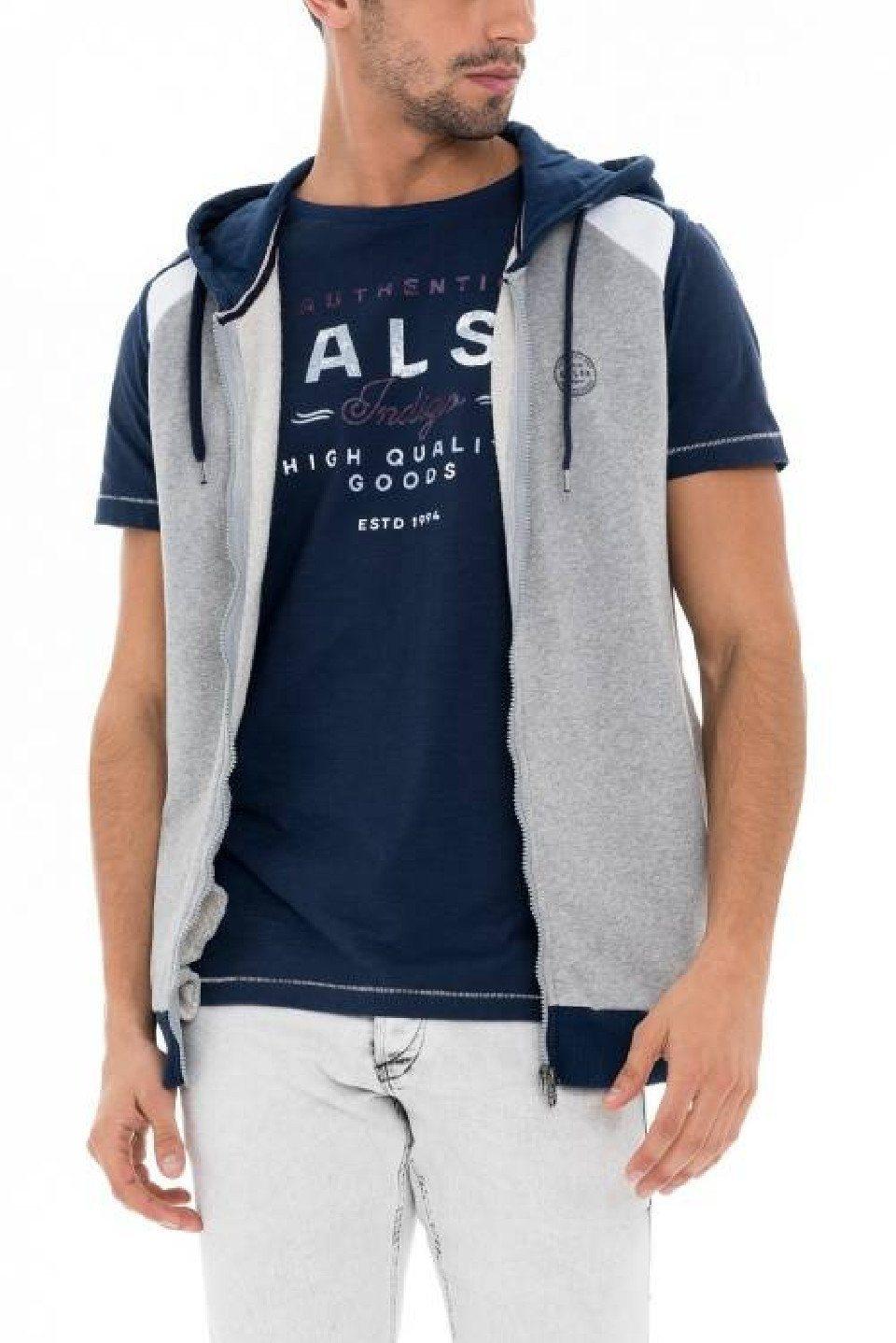Herren salsa jeans Langarm T-Shirt PALM BEACH blau, grau, grün, schwarz | 05604562747479