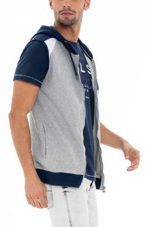 - Herren salsa jeans Langarm T-Shirt PALM BEACH blau, grau, grün, schwarz | 05604562747479