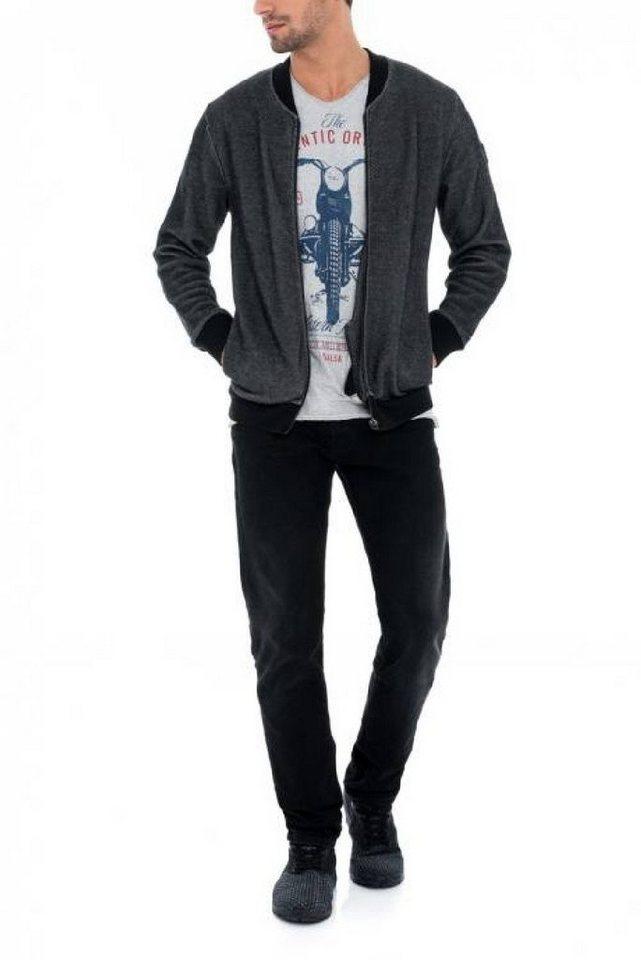- Herren salsa jeans Outdoorjacke CAMBRIDGE grau, schwarz | 05604562539487