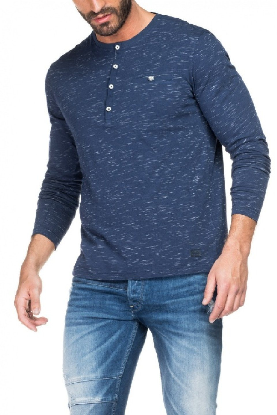 Herren salsa jeans Langarm T-Shirt BOSTON blau, grau, grün, schwarz   05604562671439
