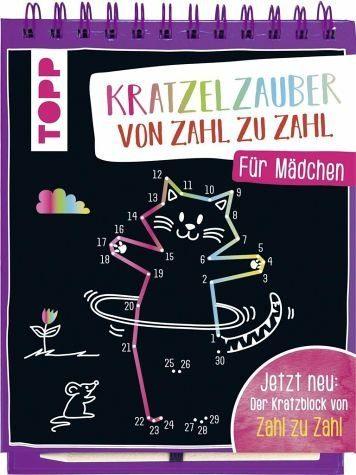 Gebundenes Buch »Kratzelzauber von Zahl zu Zahl für Mädchen«