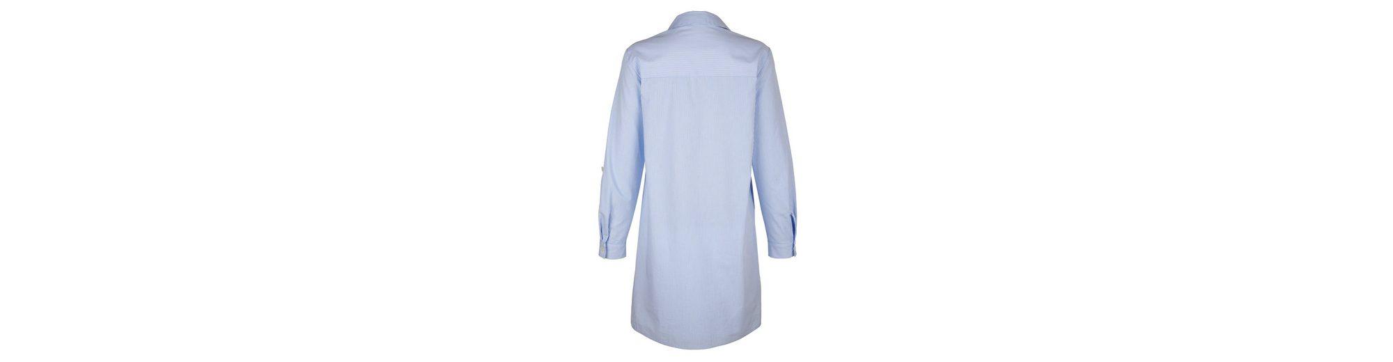 Durchsuche Sat Alba Moda Hemdblusenkleid in gewebtem Streifendessin Kaufen Sie Ihre Lieblings Rabatt Nicekicks ahrBYKF