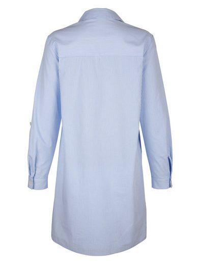 Alba Moda Blouses Dress In Woven Stripe Dessin