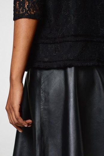 ESPRIT COLLECTION Spitzen-Bluse mit Fransen-Bordüren