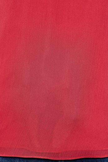 ESPRIT COLLECTION Zarte Chiffon-Crinklebluse mit Volantärmeln