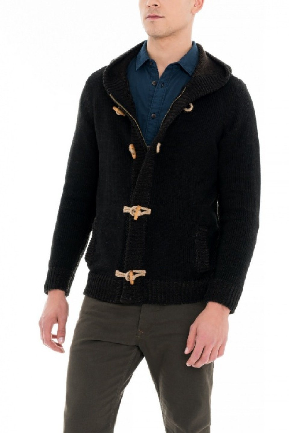Herren salsa jeans Strickjacke CAMBRIDGE blau, braun, schwarz   05604562814539